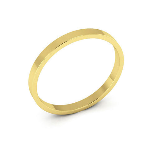 14K Yellow Gold 2mm flat  wedding bands