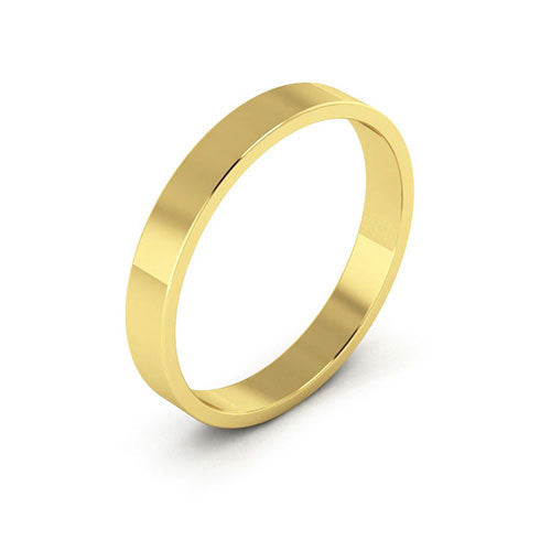 18K Yellow Gold 3mm flat  wedding bands