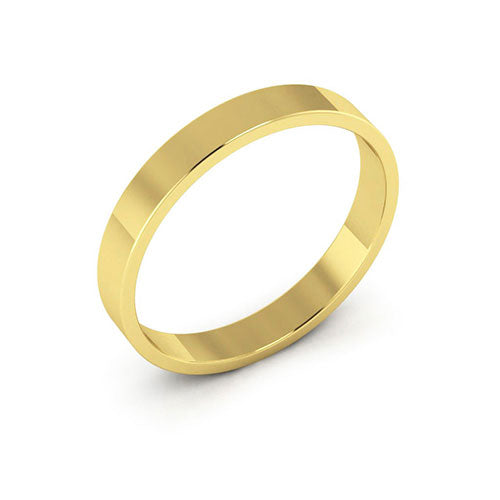 10K Yellow Gold 3mm flat  wedding bands