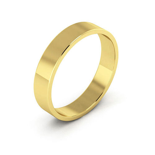 14K Yellow Gold 4mm flat  wedding bands