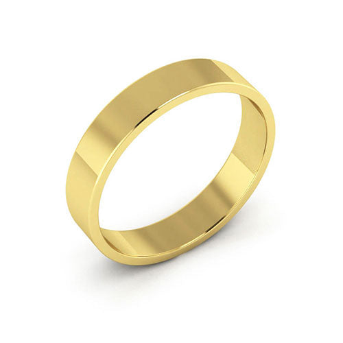 18K Yellow Gold 4mm flat  wedding bands