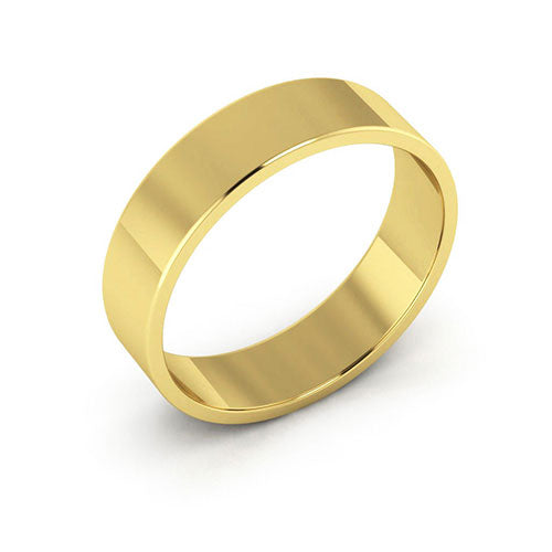 14K Yellow Gold 5mm flat  wedding bands