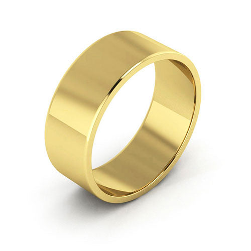 10K Yellow Gold 7mm flat  wedding bands