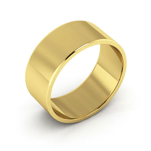 10K Yellow Gold 8mm flat  wedding bands