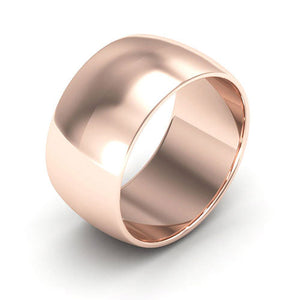 14K Rose Gold 10mm half round  wedding bands