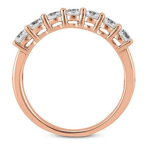 14K Rose gold 4mm prong set  women's 0.70 carats diamond wedding bands.