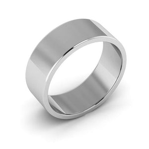 10K White Gold 7mm flat  wedding bands