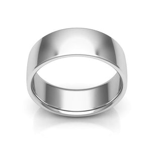 10K White Gold 7mm low dome comfort fit wedding bands