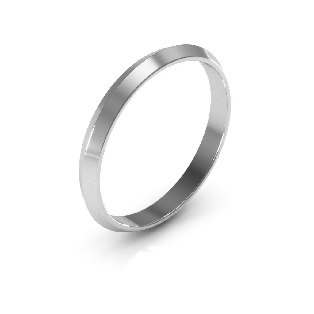 14K White Gold 2.5mm knife edge  wedding bands