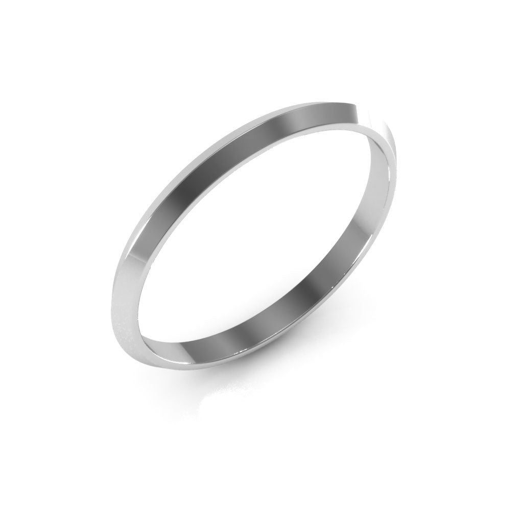 14K White Gold 2mm knife edge  wedding bands