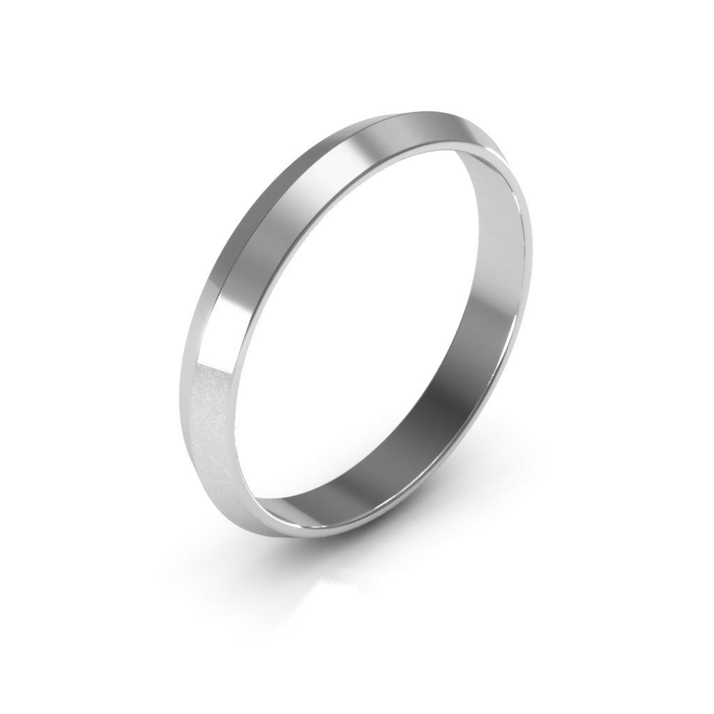 14K White Gold 3mm knife edge  wedding bands