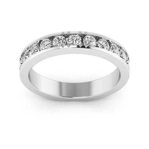 14K White gold 4mm channel set  women's 0.55 carat diamond wedding bands.