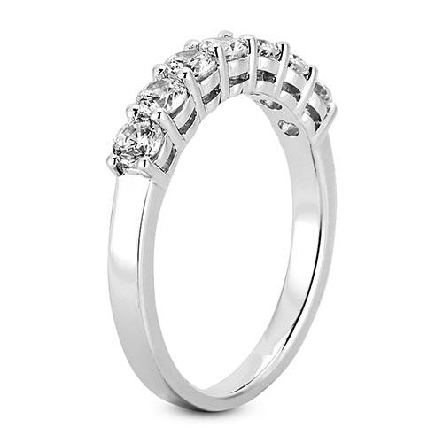14K White gold 4mm prong set  women's 0.70 carats diamond wedding bands.