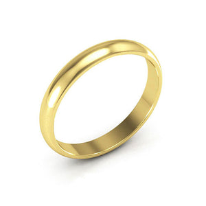 10K Yellow Gold 3mm half round  wedding bands