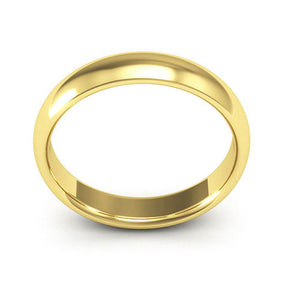 14K Yellow Gold 4mm half round comfort fit wedding bands