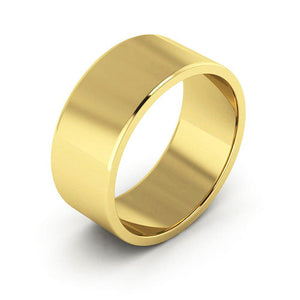 14K Yellow Gold 8mm flat  wedding bands