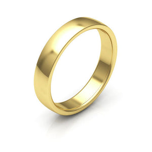 10K Yellow Gold 4mm low dome comfort fit wedding bands