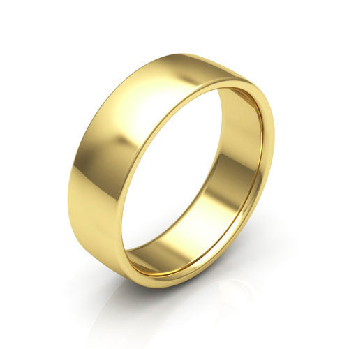 10K Yellow Gold 6mm low dome comfort fit wedding bands