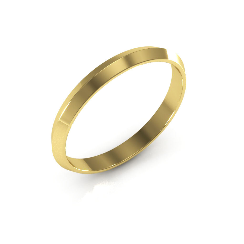 14K Yellow Gold 2.5mm knife edge  wedding bands