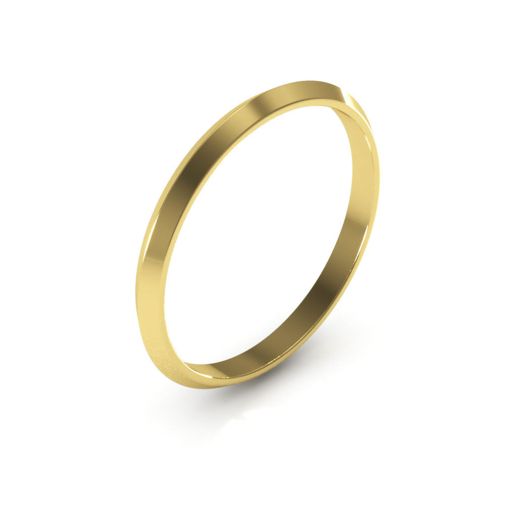 14K Yellow Gold 2mm knife edge  wedding bands