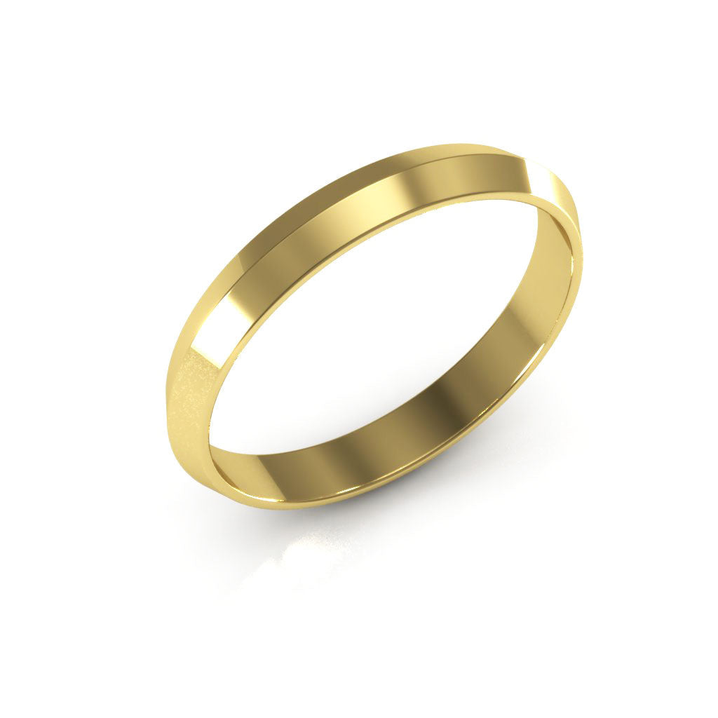14K Yellow Gold 3mm knife edge  wedding bands