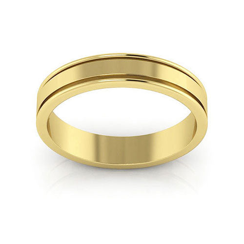 10K Yellow Gold 4mm raised edge  wedding bands