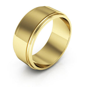 10K Yellow Gold 8mm flat edge  wedding bands