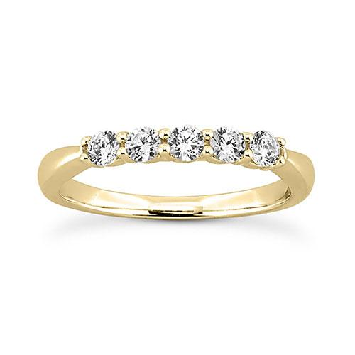 14K Yellow gold 2.5mm prong set  women's 0.35 carats diamond wedding bands.