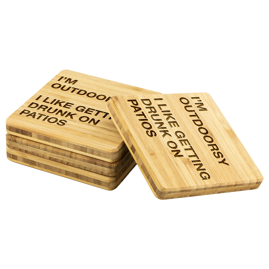 I'm Outdoorsy - Bamboo Coasters