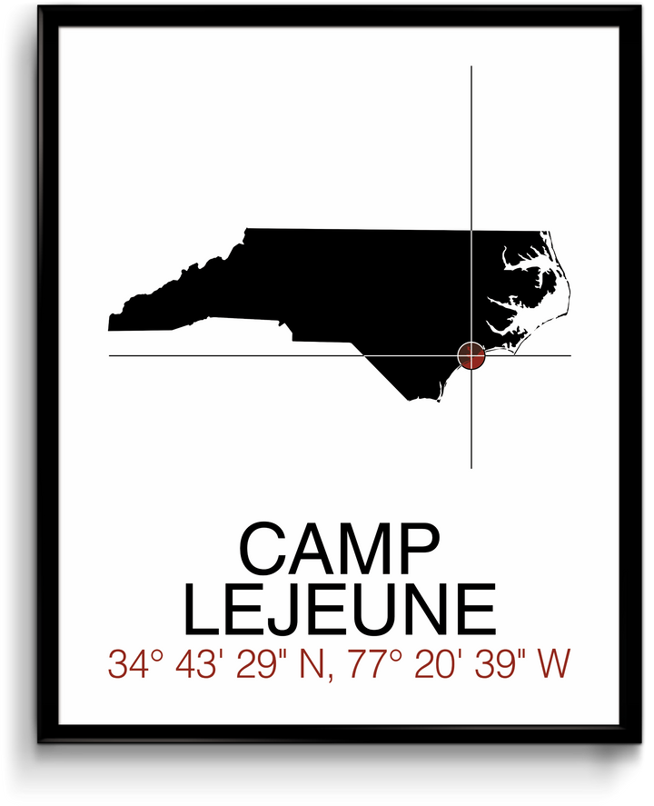 Camp Lejeune, NC - Map Print