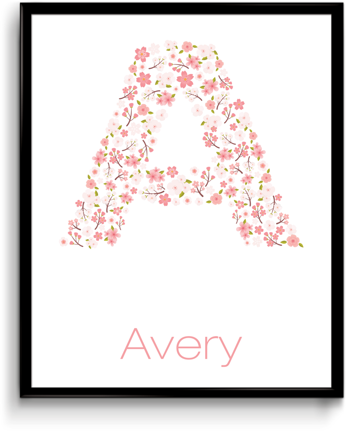 Letter Print - Cherry Blossoms
