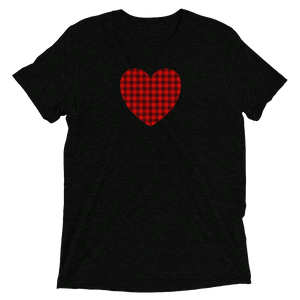 Buffalo Plaid Heart - T-Shirt