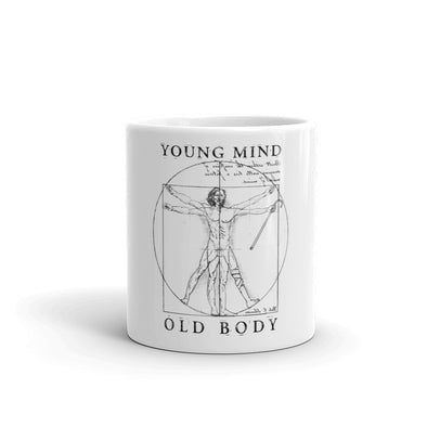 """Young Mind, Old Body"" Mug"