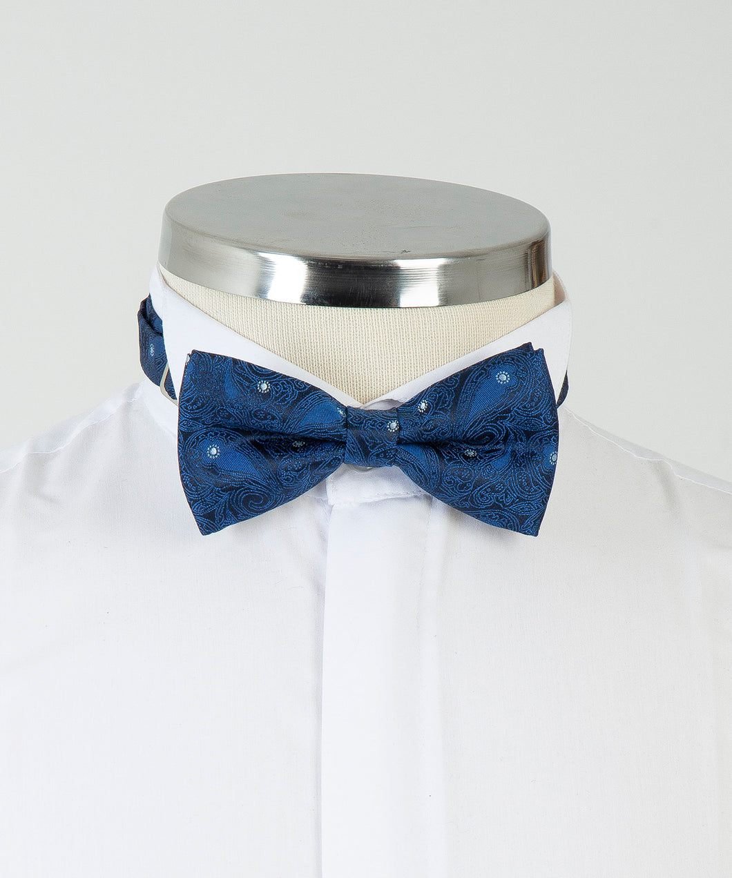 Patterned Bow Tie - Navy Blue