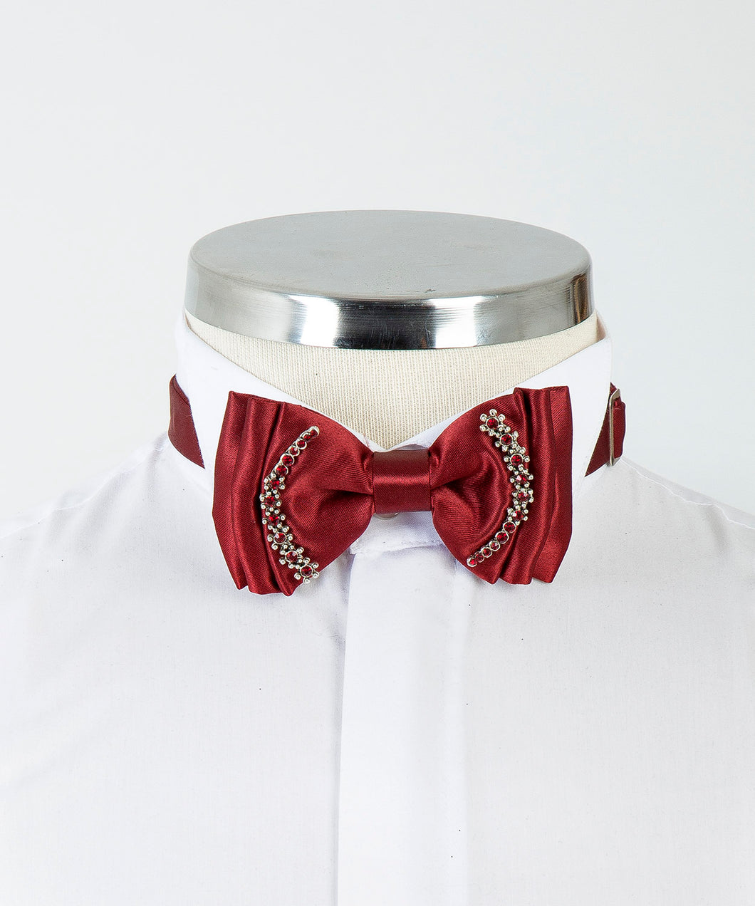 Ornamental Bow Tie - Claret Red