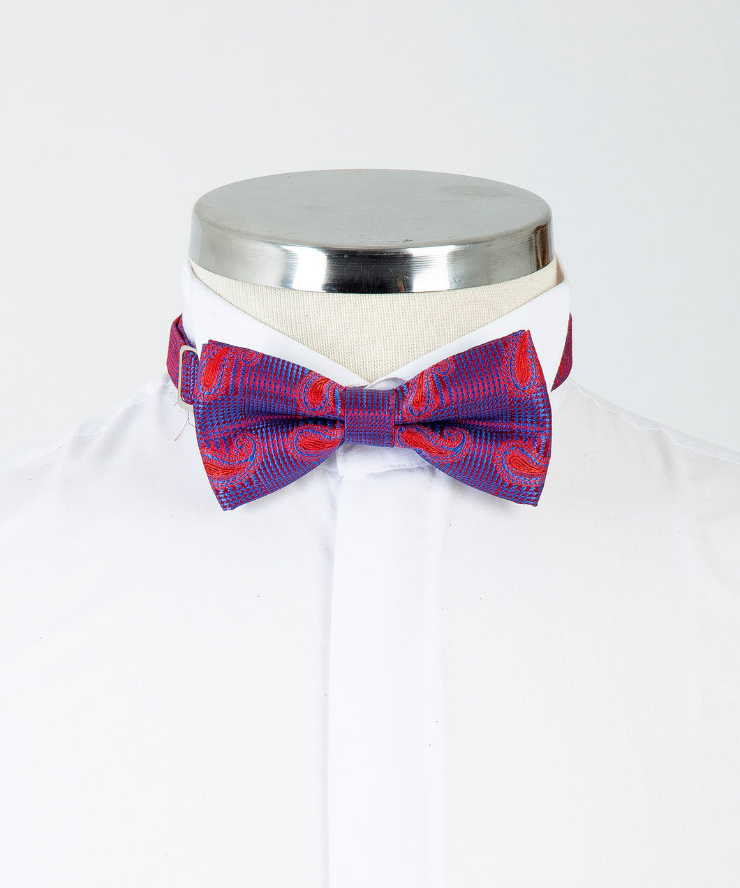 Patterned Bow Tie - Claret Red