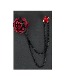 Collar Ornament - Claret Red