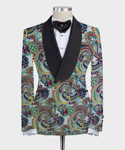 Load image into Gallery viewer, Digital Printed Paisley Colorful 2 Pieces Tuxedo
