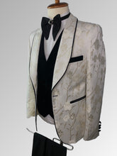 Load image into Gallery viewer, Ivory Gold Tuxedo