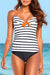 Striped Underwire Tankini Set