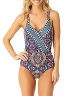 Medallion Wrap Front One Piece