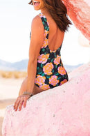 THE SCOOP ONE PIECE IN MANGO PAINTED FLORAL