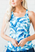 Shades of Blue Swim Tankini Top