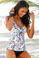 STRIPE TANKINI SET SWIMWEAR