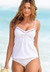WHITE UNDERWIRE TANKINI SET