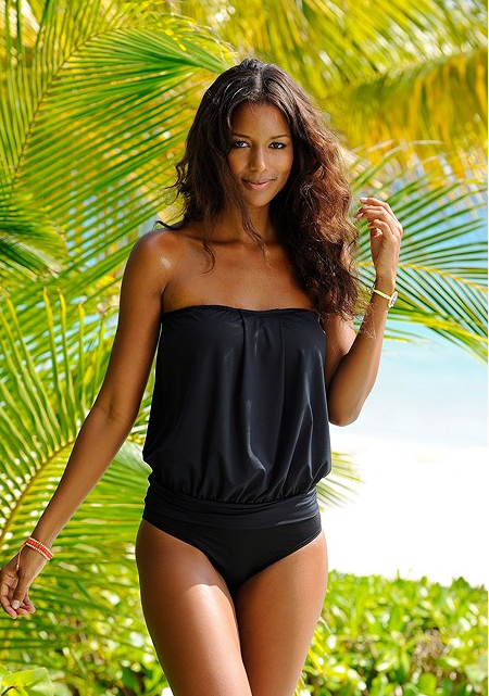 LOOSE BANDEAU TANKINI SET