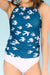 Birds Double-Cinch Tankini Set