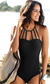 STRAPPY BLACK ONE-PIECE