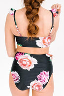 Rose Ruffle Bralette Swimsuit