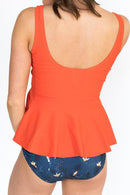Persimmon Scoop Peplum Tankini Set
